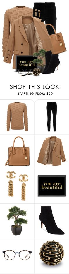 """""""Day at the office"""" by mrsceecee ❤ liked on Polyvore featuring Dolce&Gabbana, Michael Kors, Americanflat, Steven by Steve Madden, Ray-Ban, L'Objet, Parker, blazer, officewear and polyvoreeditorial"""