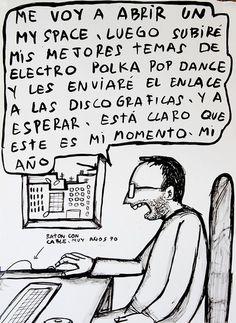 #CRISIS #DOCUMENTAL #HUMOR #SOCIAL - Ilustración Original de TONI NIEVAS de 30cm x 40cm (aprox.) para mecenas de COMO TODAS LAS MAÑANAS. Un falso documental de TONI NIEVAS sobre gente en crisis. Una comedia de Toni Nievas con Félix Maestro, Rodo Gener, Salvador Oliva, Araceli Gutiérrez y Berto Romero.  +INFO: www.facebook.com/toni.nievas y https://jp.twitter.com/toninievas o http://toninievas.tumblr.com  CAMPAÑA crowdfunding verkami www.verkami.com/projects/3625