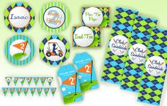 golf party printable set #golf