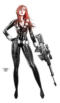 infinity-comics: Black Widow by Marcio Takara Comic Book Characters, Comic Book Heroes, Marvel Characters, Comic Character, Comic Books, Comic Art, Marvel Women, Marvel Girls, Comics Girls