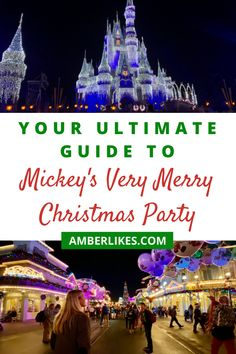 Mickey's Very Merry Christmas Party is the merriest event of the year at Walt Disney World! Your ultimate guide is here! All Disney Parks, Disney Cruise Line, Walt Disney, Disney Magic, Disney Hotels, Disney Vacations, Disney Trips, Disney Travel, Disney World Vacation Planning