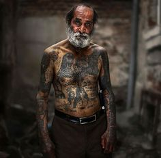 Tattooed Seniors Answer How Tattoos will Look When You're 60, http://itcolossal.com/tattooed-seniors/
