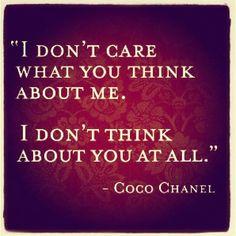 Coco Chanel, you badass bitch.