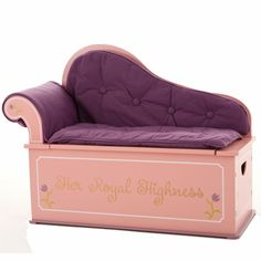 An adorable seat for an adorable princess! And it has room for storage!