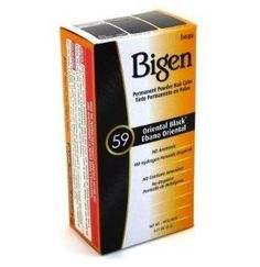Bigen #59 Oriental Black Permanent Powder Hair Color 6 gram Bottle by Bigen,