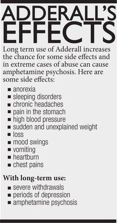 adderall long term effects - Google Search