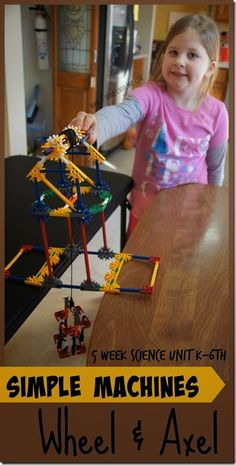 Simple machines -  wheel and axel science unit for kids. FREE science unit for kids (Kindergarten, 1st grade, 2nd grade, 3rd grade, 4th grade, 5th grade) perfect for homeschool, after school, STEM enrichment, and science projects.