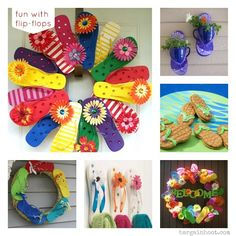 flip flop wreaths - these are the cutest....gotta make one for Springtime!!