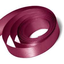 5 Yards Of Wine Double Faced Satin Ribbon by TutuOclockSomewhere