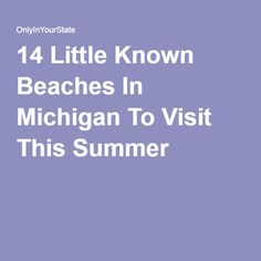 14 Little Known Beaches In Michigan To Visit This Summer