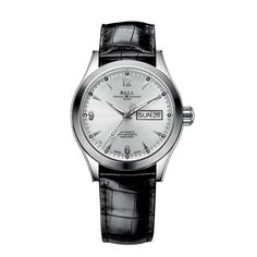 Stainless steel bracelet with folding buckle or crocodile leather strap with standard buckle with a white or black dial for this Ball Watch: http://www.desiresbymikolay.com/collections/ball-watch/products/ball-watch-engineer-ii-ohio-40mm