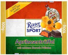 RITTER SPORT Fake Schokolade Aprikosentrüffel