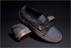 Vans Chukka Low - Black denim, Chambray Canvas w/ Leather accents and Gum Sole