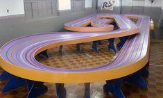 Slot Car Race Track, Slot Car Racing, Slot Car Tracks, Slot Cars, Race Cars, Race Around The World, Around The Worlds, Models, Furniture