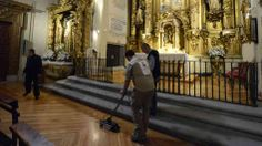 """Annalisa Quinn.  April 28, 2014.  A team of scholars and technicians in Spain are using radar to search for the burial place of Miguel de Cervantes, Spain's most celebrated writer. The author of Don Quixote died in 1616 and was buried at the Convent of las Trinitarias Descalzas in Madrid, but no one knows the exact spot. Lauren Frayer tells NPR's """"the nuns are making way for technicians using ground-penetrating radar"""" to search for the remains of the man often compared to Shakespeare."""