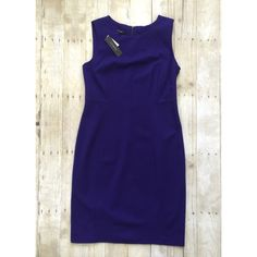 Royal Purple Ponte Knit Talbots Dress Gorgeous color! Beautiful tailored-fit Ponte knit dress from Talbots. Wish this fit me! NWT. Talbots Dresses