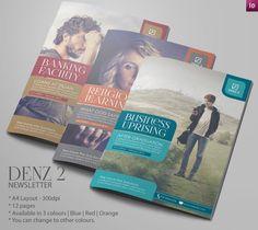 Business Newsletter Ideas | Modern Design by Innovative Design, via Behance #NewsletterTemplate #NewsletterIdeas #NewsletterDesign