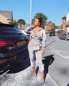🌪🌪🌪🌪 outfit details below👇🏽 Tracksuit- Heels- Heels Outfits, Fashion Outfits, Fashion Trends, Fashion Advice, Fashion Ideas, Dope Fashion, Fashion Looks, Fashion Drug, Stylish Outfits