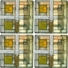 Frank Lloyd Wright Willits House Coasters - Set of 4