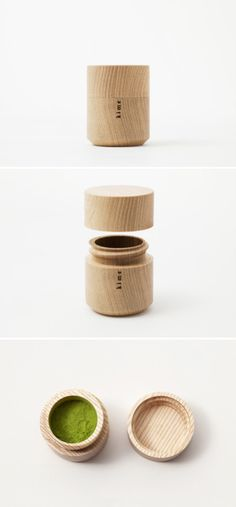 Beautiful wooden tea container.