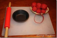 I made some apple pie play dough for the kids to play with this week. It smells so good!       What You Will Need:   1 cup of flour  1/2 c...