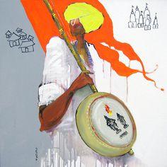 Sardar Jadhav Indian Contemporary Art, Indian Artist, International Artist, Indian Paintings, Typography Poster, Pictures To Paint, Tribal Art, Folk Art, Graffiti