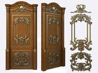 Декор для дверей, художественная резьба декорирование дверей - декоративная накладка на дверь