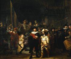 Harmensz van Rijn Rembrandt – 1606-1669  – Hollanda  The night watch – Gece Bekçileri  Yüzbaşı Frans Banning Cocq ve Teğmen Willem van Ruytenbuch komutasındaki şehir muhafızlarının gece devriyesinin anlatıldığı tablonun en önemli özelliği, ışık oyunları sayesinde esrarlı bir hava yaratılmış olmasıdır. Tabloda, Barok tarzın en önemli özelliklerinden ışık gölge karşıtlığının, ressam tarafından ustaca kullanılması sayesinde, tüm figürler canlıymış gibi algılanır.