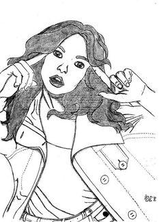 Modella_3 by @Claudio Zuzzi, via Flickr  #girl #illustration #pencil #blackandwhite