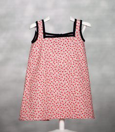 Vestido con estampado floral. 100% algodón. www.chatitaonline.com
