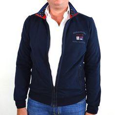 Paul & Shark vest, donkerblauw met marine applicaties