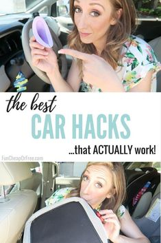 Keeping the car clean can be a struggle. Today I'm sharing my BEST car hacks, tips, tricks, and gadgets that have basically saved my #MomLife in the car. #lifehacks #carhacks #cleaningtips