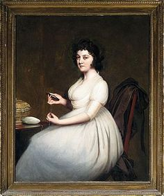 PORTRAIT OF MRS ABNEY by Joseph Wright of Derby
