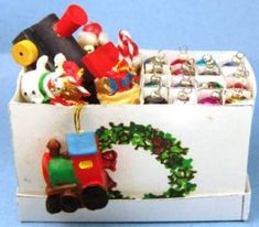 Miniature Christmas and Chanukah items