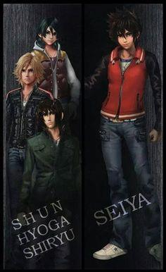 #Nova imagem dos personagens do filme Os Cavaleiros do Zodíaco - A Lenda do Santuário mostra Shun, Hyoga, Shiryu e Seiya com roupas casuais.
