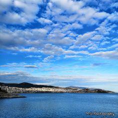 #kavala #bluecity Blue City, Greece, Clouds, Sky, Amazing, Summer, Photography, Travel, Outdoor