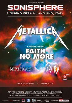 News di Spaghetti italiani - 02/06 Metallica all'Arena Fiera di Rho per Sonisphere 2015