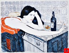 Hope Gangloff - Artist illustrator. She draws with a ballpoint pen. . . .