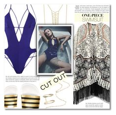 """Yep, They're In! The One-Piece"" by dolly-valkyrie ❤ liked on Polyvore featuring Agent Provocateur, WithChic, Eddie Borgo, adidas Originals and onepieceswimsuit"