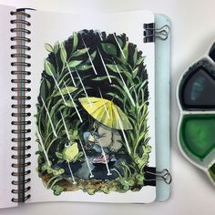 Drizzle #sketchbook #watercolour