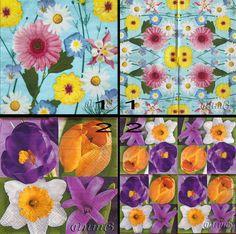 Купить салфетки декупаж цветы микс принт - декупажные салфетки, салфетка для декупажа, салфетки декупажные