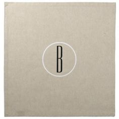 Kraft Brown Chic Monogram Letter Initial Rustic Napkin - barn wedding gifts template diy customize personalize marriage