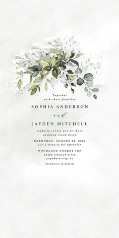 Choose from thousands of customizable wedding invitation templates or create your own from scratch. Wedding Card Design, Floral Wedding Invitations, Wedding Invitation Templates, Wedding Cards, Engagement Invitation Cards, Wedding Welcome Bags, Wedding Prep, Watercolor Invitations, Invite