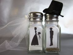 Items similar to Fireproof Bride and Groom Salt and Pepper Shakers Cake Topper Table Decoration on Etsy Wedding Desserts, Wedding Favours, Wedding Gifts, Salt And Pepper Image, Crafty Wedding Ideas, On Your Wedding Day, Dream Wedding, Wedding Cake Toppers, Wedding Cakes