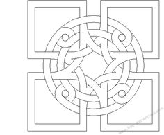 Printable Roman Mosaic Coloring Pages Free Mosaic Patterns, Stained Glass Patterns, Zentangle Patterns, Tile Patterns, Pattern Art, Celtic Symbols, Celtic Art, Celtic Knots, Celtic Dragon
