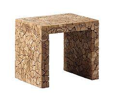 Table d'appoint BENN bois de teck, naturel - L50