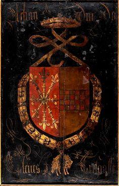 Golden Fleece Order Stall-plate of 48. John I, Duke of Cleves (1419-1481), Sint-Rumoldus Kerk Mechelen, by Pierre Coustain, 1491.