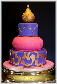 This cake just says Morocco, Sweet 16 and FUN! Love making this cake. Cake flavors were red velv. 16 Cake, Cupcake Cakes, Sweet Sixteen, Beautiful Cakes, Amazing Cakes, Arabian Party, Arabian Theme, Moroccan Party, Moroccan Theme