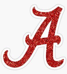 'university of alabama glitter' Sticker by catscollegecuts Alabama Crimson Tide Logo, 50th Birthday Party Decorations, Alphabet Templates, Letter Symbols, Name Wallpaper, Cute Animal Memes, Bridal Bangles, Glitter Letters, University Of Alabama