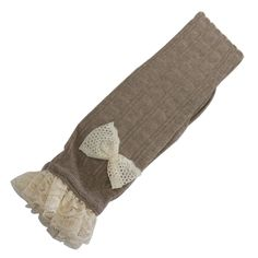 Linkshare Women's Crochet Bow Long Socks One Size Khaki. With Crochet lace yarn solid body knit boot toppers will be your favorite winter-wear item. Wrap your legs in comfortable cotton knit sock. Wash by hand and Dry clean. Material: Cotton.